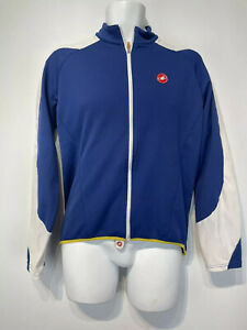 castelli long sleeve blue white Cycling jersey