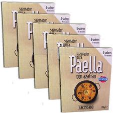 5 PACK SPANISH PAELLA SEASONING MIX WITH SAFFRON, (5 SACHETS / PACK)