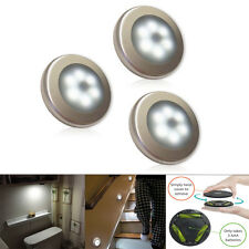 Wireless Battery Powered PIR Motion Sensor LED Night Light Lamp Wall Wardrobe
