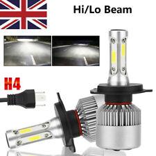 2 x H4 COB CREE LED Super Bright White Headlight Headlamp Main Dipped Beam Bulbs