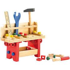 Kinder Werkbank: Lustige Holzwerkbank für kleine Handwerker, 51-teilig