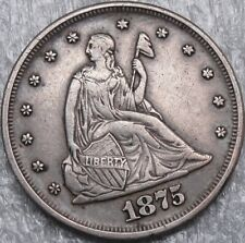 1875 20C Twenty Cent Piece, Seated Liberty, 20 Cents, 90% Silver, #3964