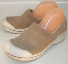 Dansko Wos Shoes EU 41 US 10.5 11 Brown Textured Suede Casual Wedge 5357