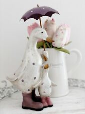27cm Shabby Chic Mother Duck & Baby Decorative Sculpture Ornament Figurine Home