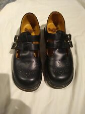 Black Doc Dr. Martens Original Double Brass Buckle 8065 Mary Jane US 8 UK 6