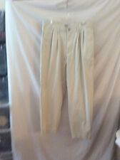 Old Navy Khakis ~ 34X31 ~ Beige ~ Cuffed ~ Pleated Front