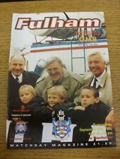 12/09/1995 Fulham v Rochdale  . Item appears to be in good condition unless prev