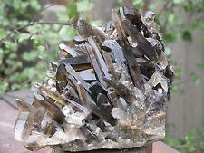 Raw Smoky Quartz Crystal Cluster 2.49 KG - Collectors Item