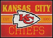 KANSAS CITY CHIEFS FOOTBALL NFL LICENSED VINTAGE TEAM LOGO INDOOR DECAL STICKER