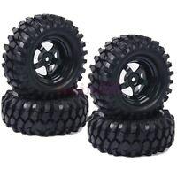 4PCS RC 1:10 Off-Road Car Beach Rock Crawler Tires Tyre & Wheel Rim 6030-7006