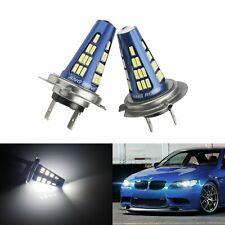2 Ampoules H7 LED 48 SMD Feu Brouillard phare de voiture DRL Lampe Blanc Xenon