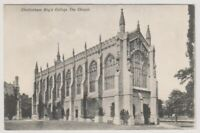 Gloucestershire postcard - Cheltenham, Boy's College, The Chapel (A493)