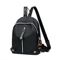 Women Black Nylon Backpack Travel Shoulder Bag Handbag Girls Rucksack Bookbag