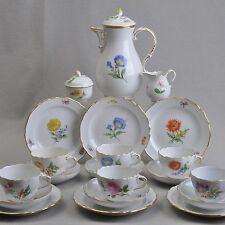 Meissen Servizio Caffe per 6 persone, Fiore 1 & 2, 21 parti, nucleo 6 coperti