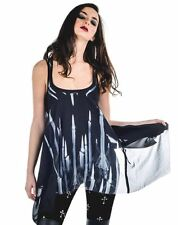 Widow by Lip Service Candle Draped & Dreary Assymetrical Top Shirt Alternative M