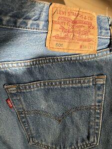 *Vintage* LEVI's Original Jeans Hose Denim 501 W34 L34 hellblau, Top Klassiker