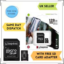 KINGSTON 128GB clase 10 UHS-I U1 Tarjeta Micro SD para grabación full HD drones ()
