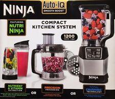 Nutri Ninja Blender System BL490UK2 with Auto-iQ & 1.2L Food Processor 1200W