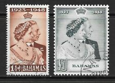 1948 KGVI  Royal Silver Wedding  SG194 & SG195 Set of 2 Fine Used BAHAMAS