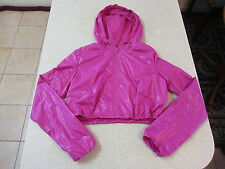 Women's LORNA JANE Size S Cropped Jacket Pink As New Light Weight Active Water
