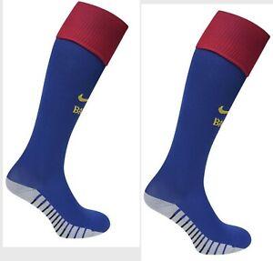 New Nike Mens FCB Barcelona Home Socks Deep Royal Blue/Noble Red.-RRP £14.99