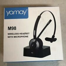Bluetooth Headset, YAMAY Wireless Headset with Microphone Noise Cancelling Mic