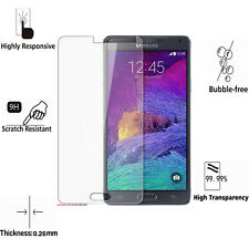 2 X New Tempered Glass Screen Protector Guard Film For Samsung Galaxy Note 4