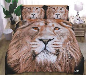 Lion and Black Panther 3D Bedding Duvet Cover Amazing Complete Set Full Set