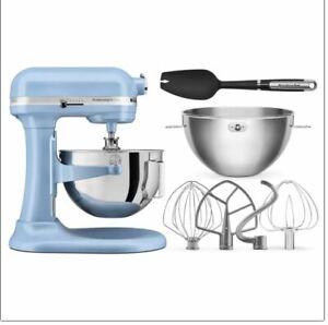KitchenAid Professional Plus 5 Quart Bowl-Lift Stand Mixer w/Bundle Light Blue
