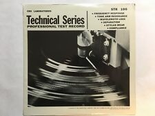 "CBS LAB TECHNICAL,  PROFESSIONAL TEST RECORD, STR-100, NEW -12"" - 33 1/3 RPM"