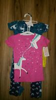 Carters Girls 18m Toddler 4-Piece Pajama Sleep Set Unicorns Size  NEW