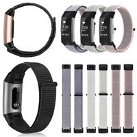 For Fitbit Charge 3 / 3 SE Soft Nylon Sport Loop Replacement Strap Wrist Bands