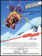 HOT DOG...THE MOVIE__Orig. 1983 Trade print AD / screening promo advert__skiing