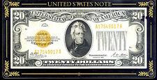 1928 $20 pure Gold Certificate in high grade