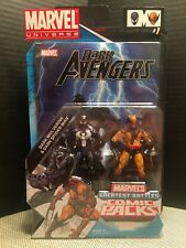 "Marvel Dark Spiderman & Wolverine Universe Comic Pack Dark Avengers 3.75"" Venom"