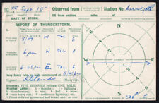 Thunderstorm Report Card, 1945 from Wingate, Co. Durham.