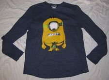 LARGE MENS GRAPHIC T-SHIRT 42/44 MINIONS MINION NAKED DESPICABLE ME LONG SLEEVE!