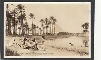 Postcard Egypt view of The Pyramids From Mena Village RP