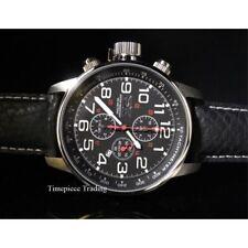 Relojes de pulsera de cuero con cronógrafo Invicta