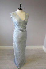 PHASE EIGHT ELEGANT SAVANNAH EVENING  DRESS - SIZE 14 - BLUE - LINED