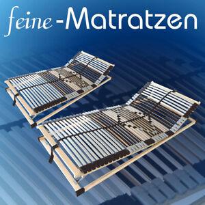 Set Angebot! 2x stabile verstellbare Lattenroste 42 Leisten KF, 90x200cm