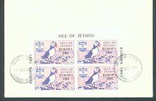 Jethou Channel Islands 1961 Europa imperf sheet of 4  on FDC (ref. J14)