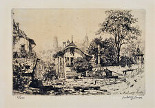 MAXIME LALANNE Original SIGNED 19th Century ETCHING Notre-Dame Paris Cathedral