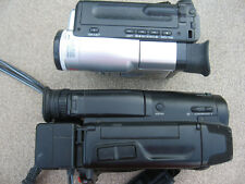 Sony Handycam CCD-TR23 Video 8 & Samsung SCL810 Hi 8 Camcorder Player Camera 8mm
