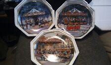 Set Of 3 Franklin Mint Carousel Plates By Sandi Lebron