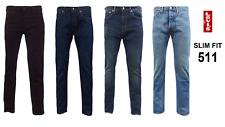 Genuine LEVIS MENS 511 Slim Fit Levi Jeans Denim Blue Black Multiple colours