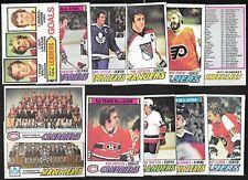 1977-78 OPC O PEE CHEE NHL HOCKEY CARD ERROR CHECKLIST VARIATION 1-132 SEE LIST