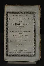 Baur – Wunderheilungen durch Alexander von Hohenlohe – Würzburg 1822