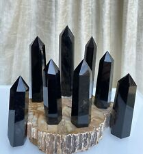 Wholesale Lot 1 Lb Black Obsidian Obelisk Tower Point Crystal Natural Energy