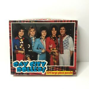 Whitman Bay City Rollers Vintage 224 Piece Jigsaw Puzzle 7692 Complete Pop Band